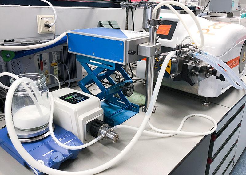 Size Monitoring of Nano Emulsions During High Pressure Homogenization